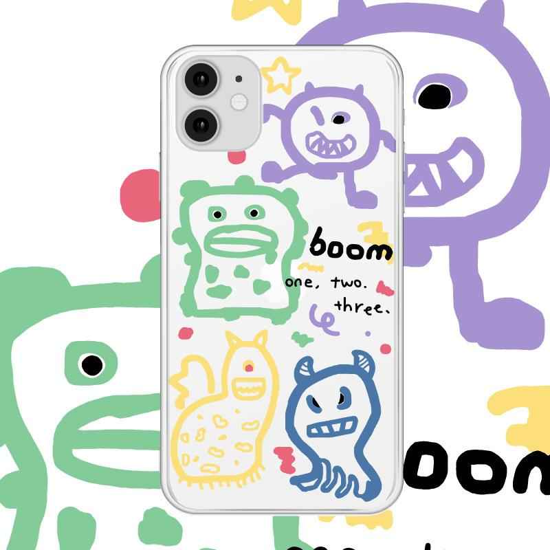 Creative funny Hand painted cartoon animal painting cute for iphone 11 pro max xr x/xs max 7/8 plus 6/6s plus
