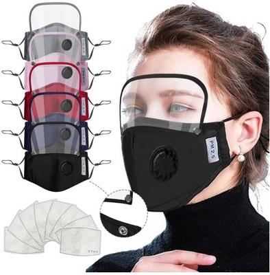 Masks 2 in 1 Mouth Mask Removable Eye Shield Face Mask Kids Valve Face Mask With 2pcs Filter Pad Anti-dust Protective Masks EEA1901