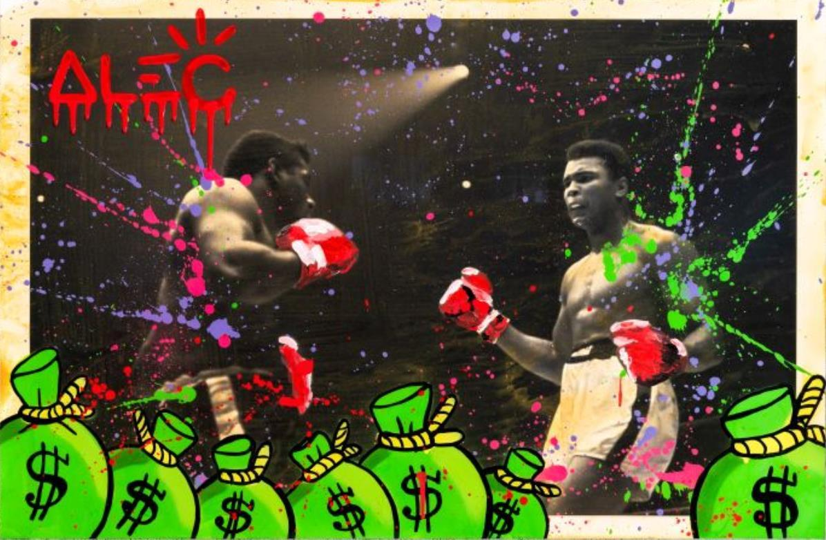 Alec Monopoly Artworks ALI BOXING BW 10 Home Decor Handpainted &HD Print Oil Painting On Canvas Wall Art Canvas Pictures 200824