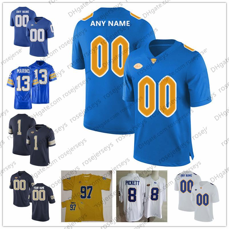 Personalizado 2020 Pittsburgh Panthers Futebol # 24 Conner Jerseys 13 Dan Marino 25 Darrelle Revis Lesean McCoy Costurado NCAA Pitt Jeesey 4xl