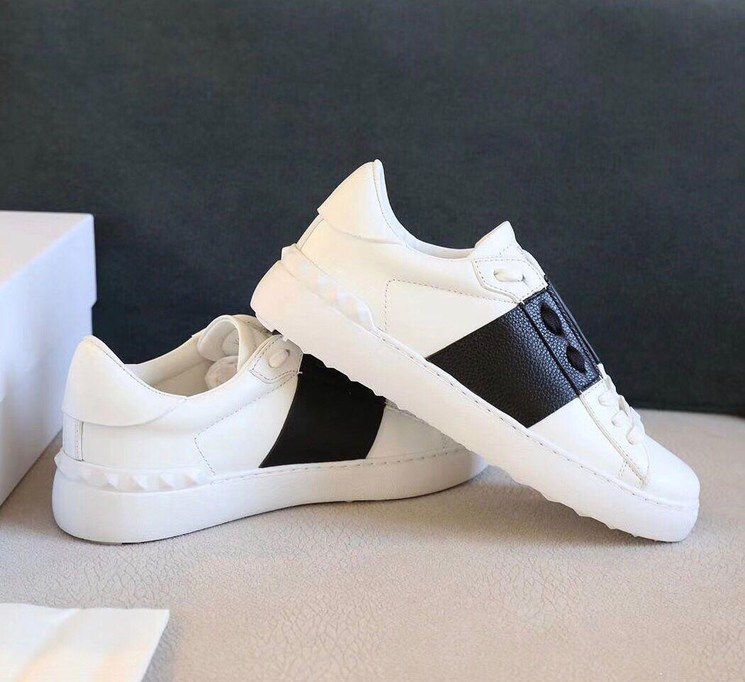 Mükemmel Tasarımcı Kaya Koşucu Sneakers Beyaz Deri Bölünmüş Rahat Yürüyüş Kaya Çiviler Kadınlar, Erkekler Çift Açık Spor Eğitmenleri EU35-45