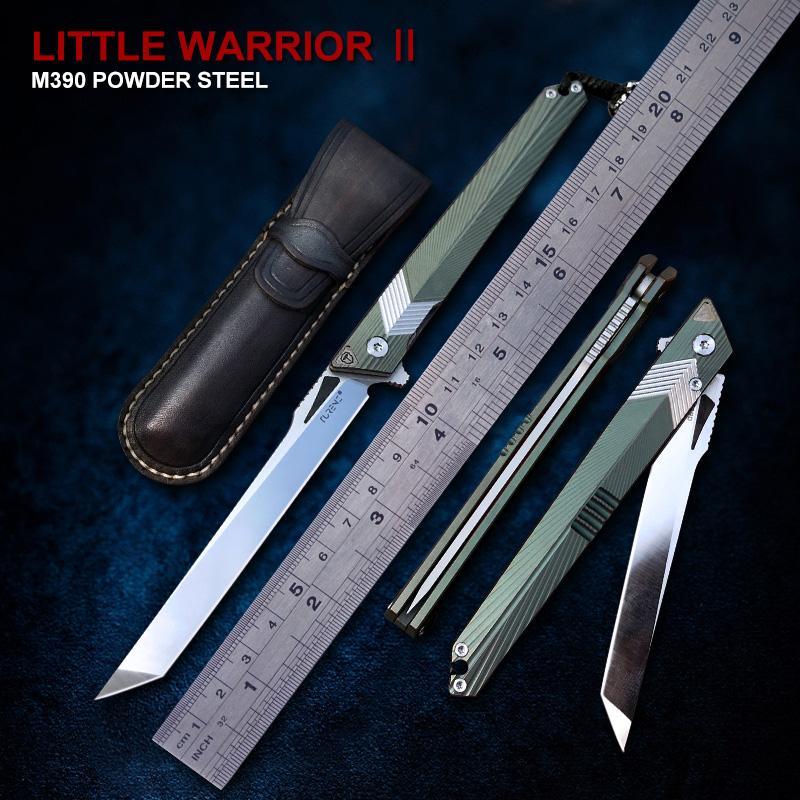 TURENZ-M390 Paslanmaz Çelik Bıçak Katlanır Bıçak G10 Titanyum Alaşım Kol Jilet Tanto Noktası Pocket Knife Açık EDC Araçları