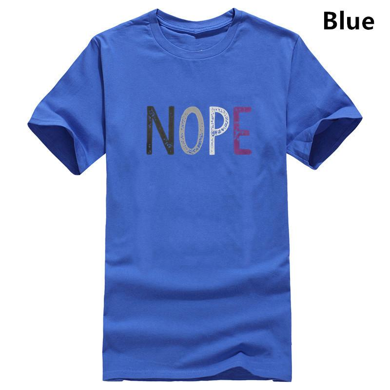 NOPE asessuale uomini della maglietta Orgoglio Asexuality Lgbt LGBTQ Ace design Tee Shirt T-Shirt 100 Premium Felpa regalo Cotton