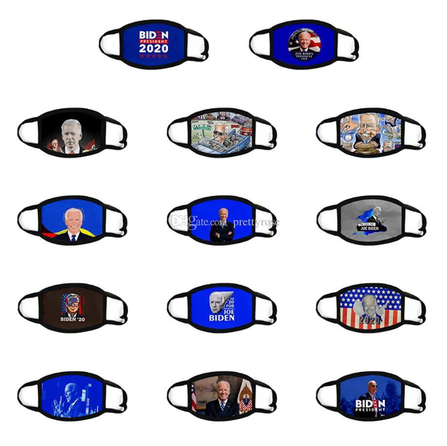 3D Baskı Joe Biden Yüz Maske Windproof Pamuk Ağız Maskeleri Yetişkin 2020 Amerikan Seçim Amerika Birleşik Devletleri Siyah 14 Stiller Maskesi