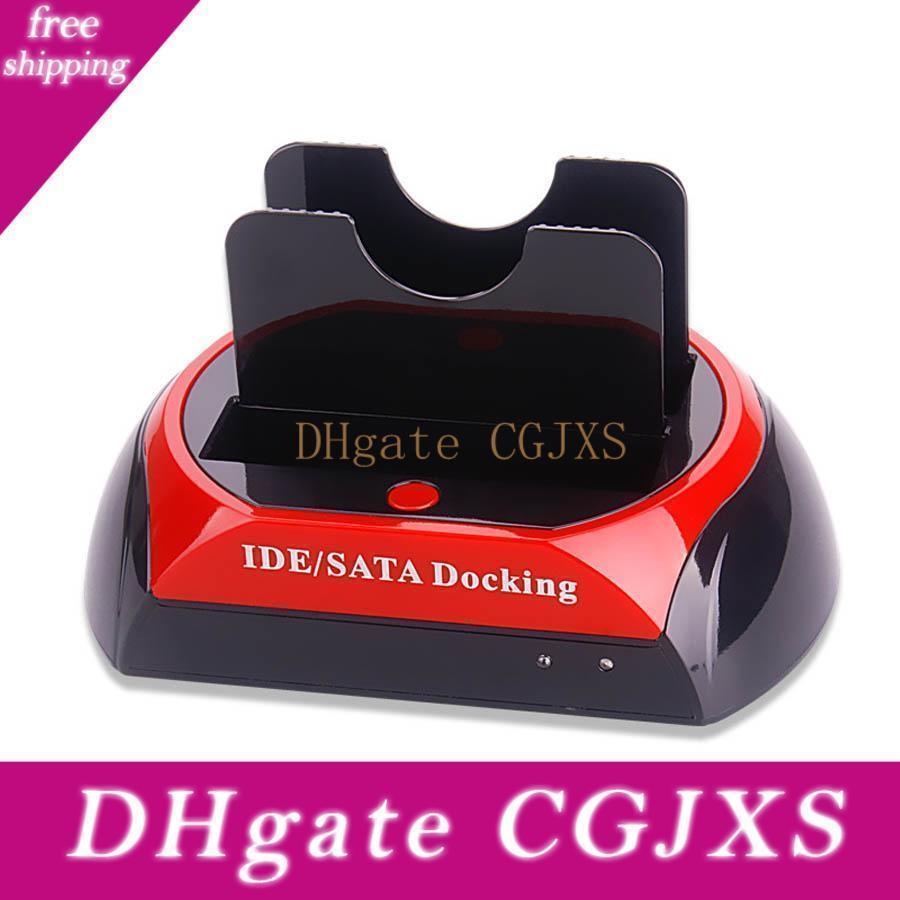 HDD 2 .5 İnç 3 .5 İnç Ide / Sata Usb 2 için İstasyon Base Yerleştirme İstasyonu Çift Sabit Disk Sürücüsünü Yerleştirme 0,0