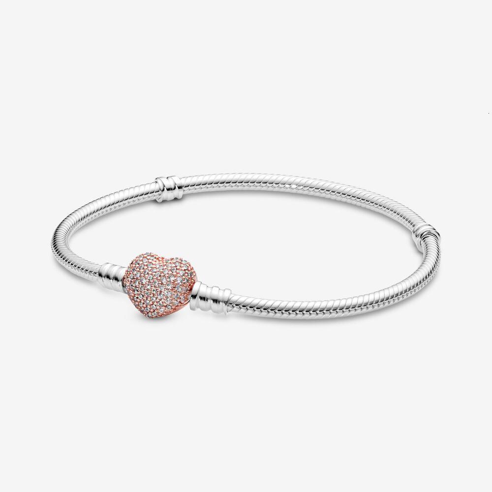 2020 Best Selling Herz-Haken-Schlange-Kette 925 Sterlingsilber-kundenspezifische Armband Zubehör für Pandora zu machen Armbänder