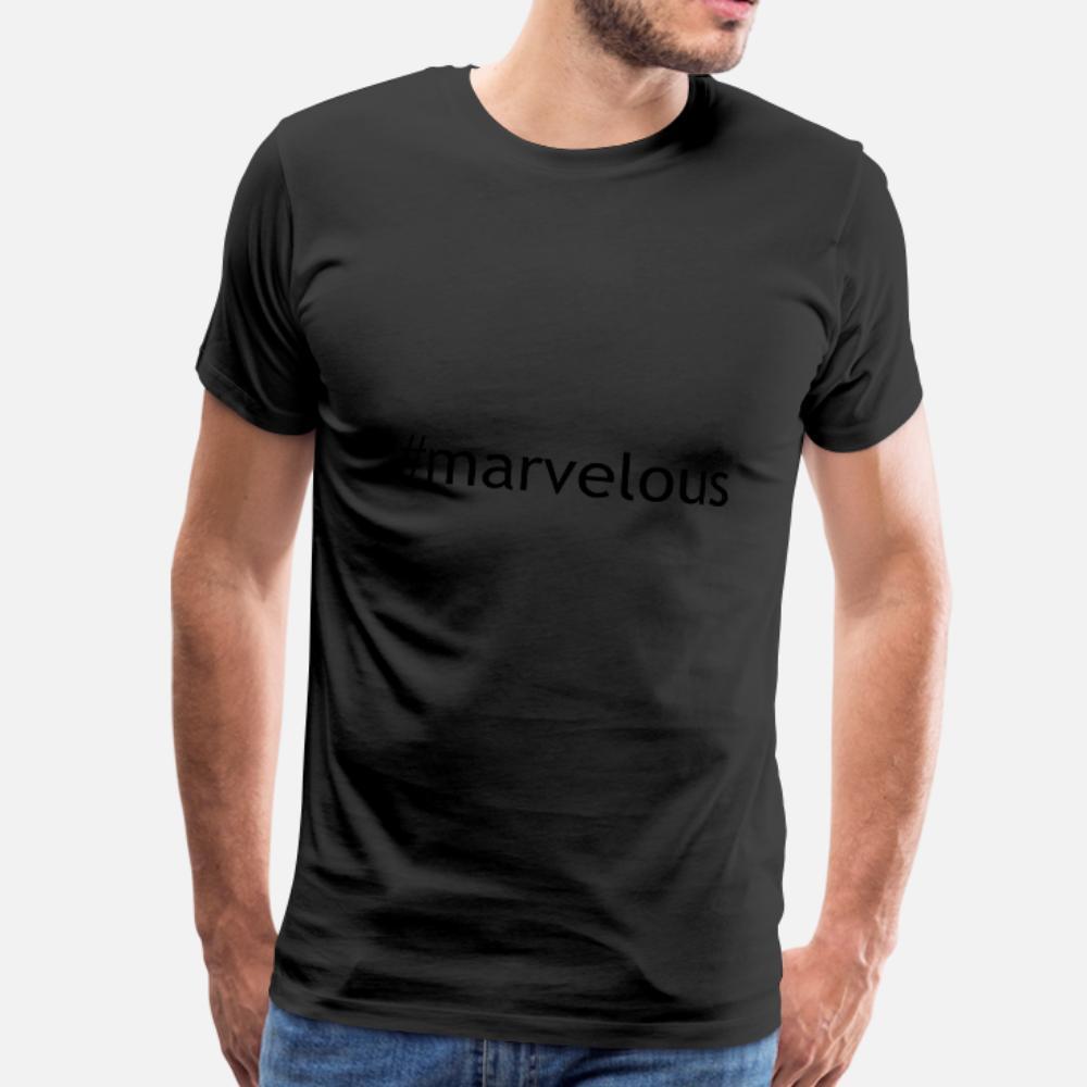 Maravilhosa T Shirt Men malha 100% Padrão Cartas Moda Outono Primavera bonito camiseta de algodão em torno do pescoço