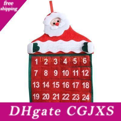 Noel Süsleri Noel Baba Takvim Noel Duvar Takvimi Ana kolye Noel Takvim kolye Home For 30 * 40cm