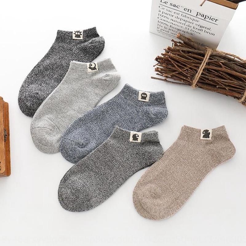 barco etiqueta corta de los hombres de XMHoR de primavera y otoño nueva Nacionales Barco hombres alienígenas calcetines calcetines de estilo de etiqueta de tela de algodón tela étnica