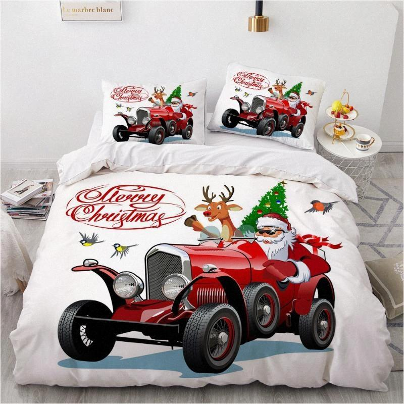 3d Christmas Design Comforter Shell Duvet Quilt Cover Bedding Set Single King Queen Double Single Size Home Textile Akol From Dianxinkai 53 69 Dhgate Com