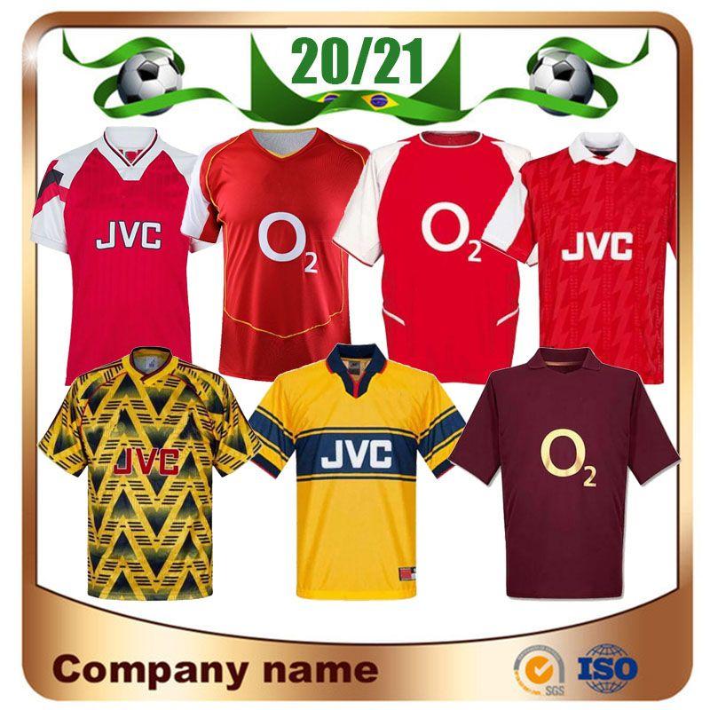 04 05 06 Retro Fussball Jersey 82 88 89 Henry Vintage Pires Soccer Hemd 1994 1995 1997 2000 20002 Bergkamp Football Uniform