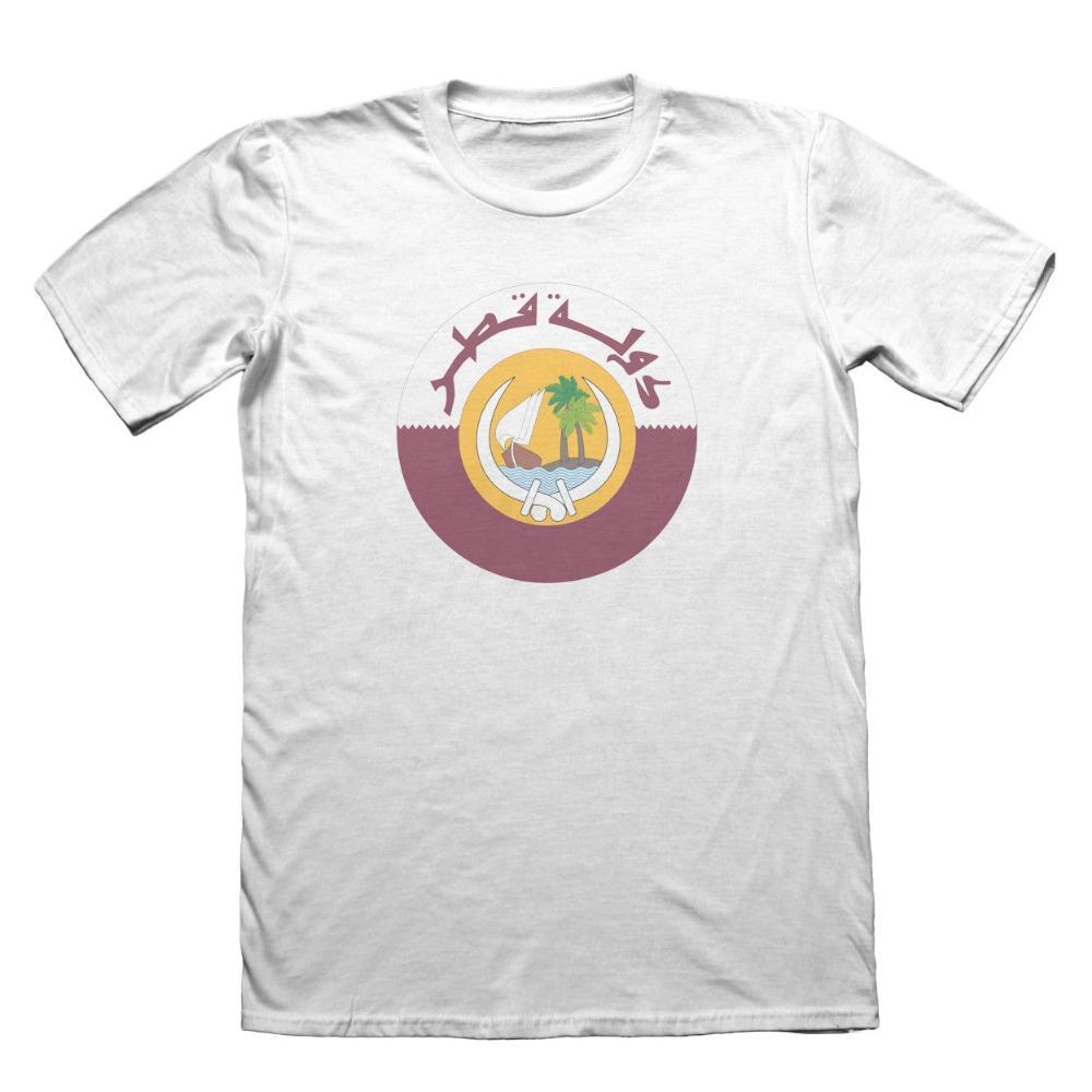 2019 moda 100% algodón Hombres camiseta de los hombres camisetas de encargo Qatar Doha camiseta camisetas de encargo en línea