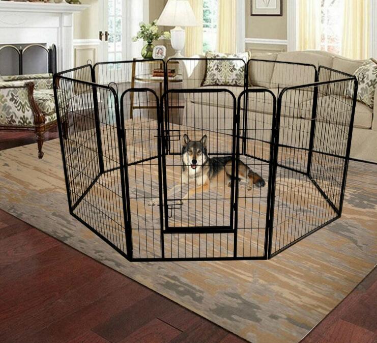США STOCK Высокое качество Оптовая Дешевые Лучший Большой Крытый Металл Щенок Run Забор / Iron Pet Dog Playpen W24101525
