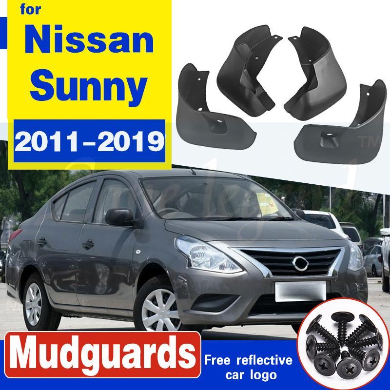Set Molded Auto Mud Flaps für Nissan Sunny 2011 - 2019 für Nissan Kick-Schmutzfänger Schmutzfänger Schmutzfänger Kotflügel Fender Styling