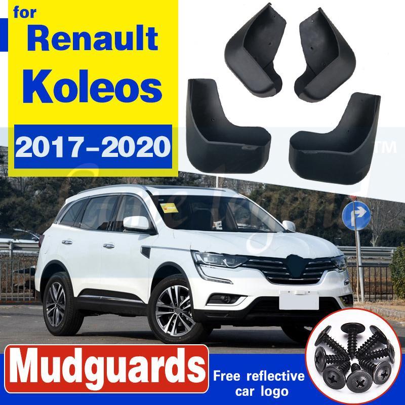Définir des volets de boue de voiture moulée pour Renault Koleos 2 2017-2020 Mudffflaps Splash Guards Garde-boue à rabat de boue Fender Front Arrière Style