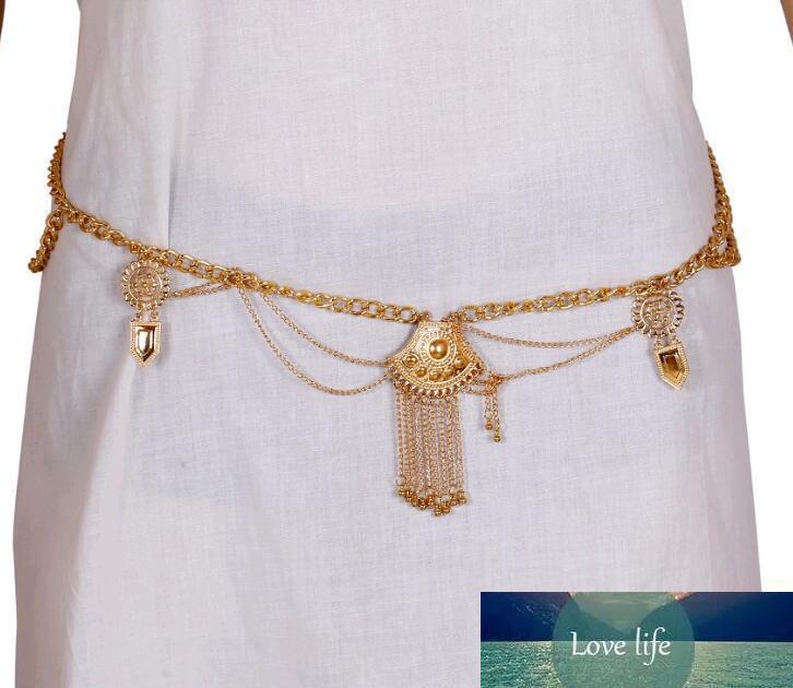 Estilo bohemio retro de plata 1pcs exagerado franja de la borla de la cintura del vientre joyería al por mayor Cadenas cuerpo de playa