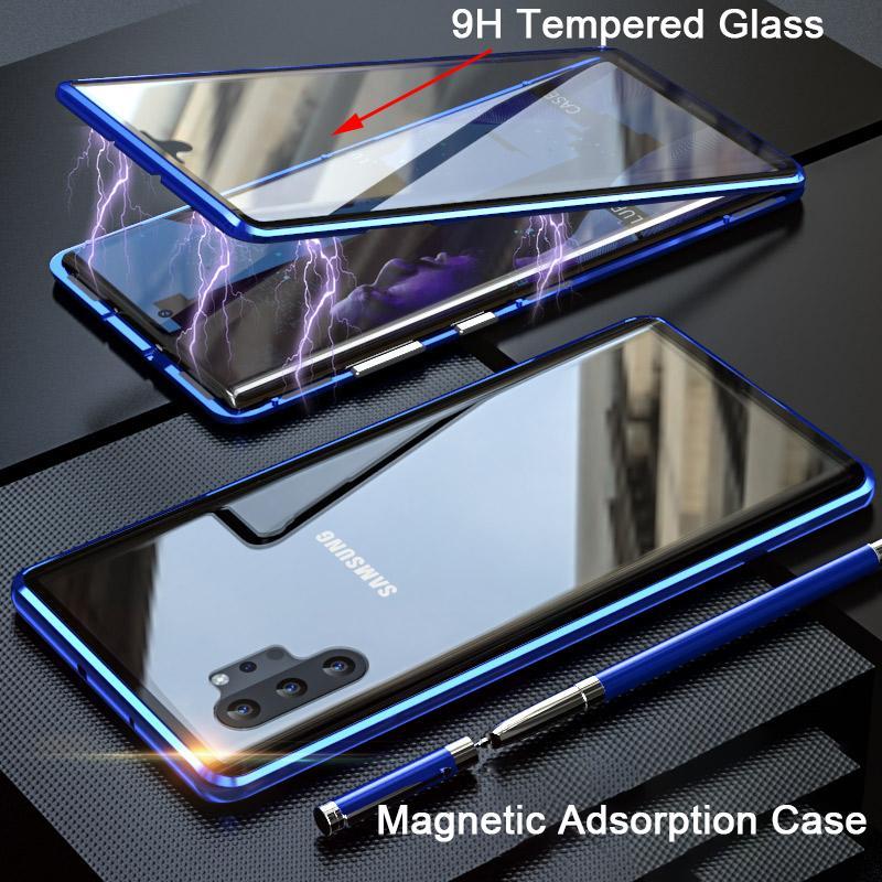 Magnética Anti Peeping Privacidade 360 capa para Samsung Galaxy Nota 20 Ultra Phone Cases Case Cover Para Samsung Note20