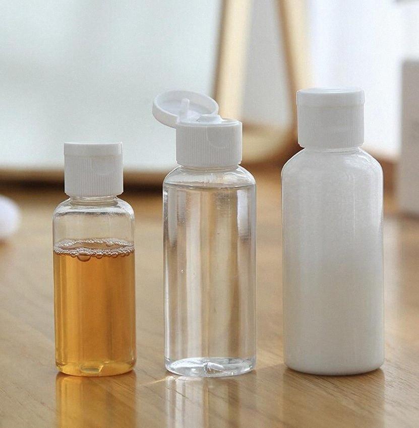 30ml bottiglia vuota Contenitore Dispenser Shampoo Lozione Squeeze, vaso di plastica trasparente di corsa di trucco bottiglia riutilizzabile KKA7765 V3ln #