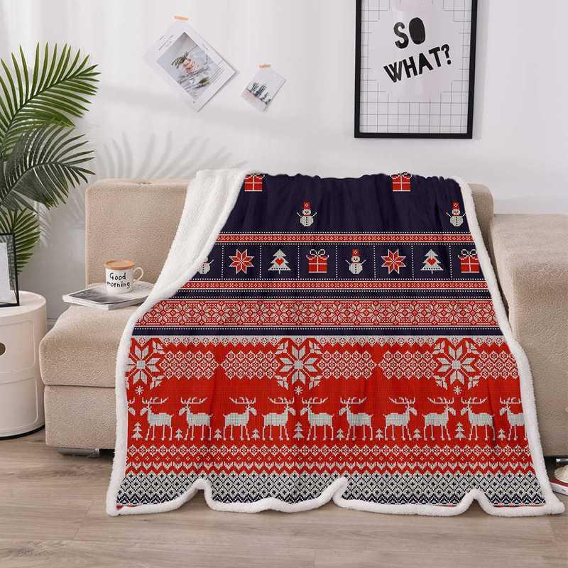 Это мой Iconic Рождество фильма, чтобы смотреть Одеяло Двусторонний Толстого Одеяло Супер мягкое и удобные Теплые Плюшевые Одеяла Th