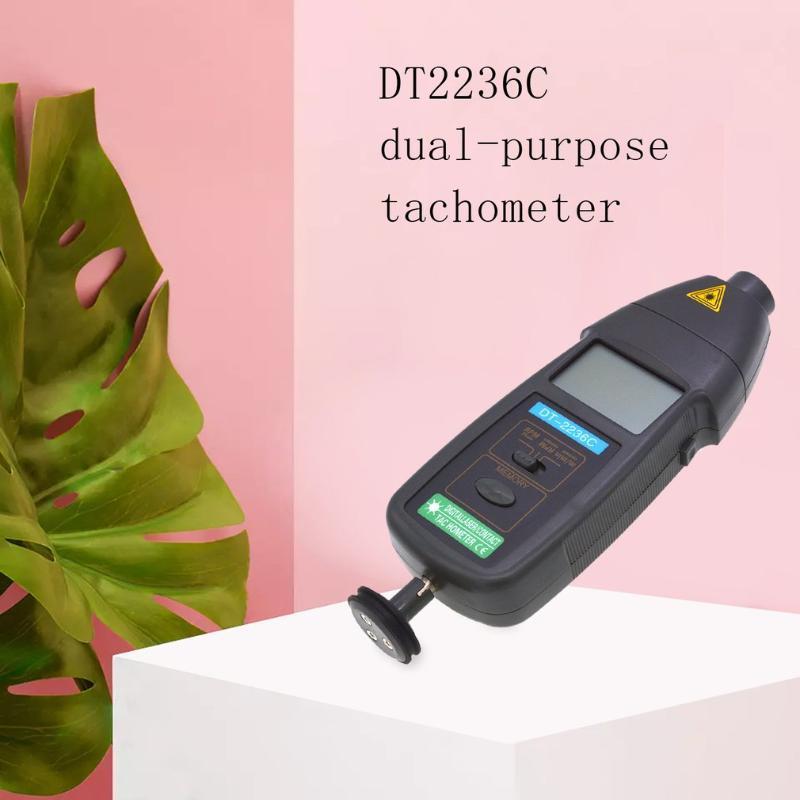1 속도 감지기 미터 레이저 RPM 회전 속도계 LED 디지털 광학 연락 회전 속도계 감지기 미터에 DT2236C 2