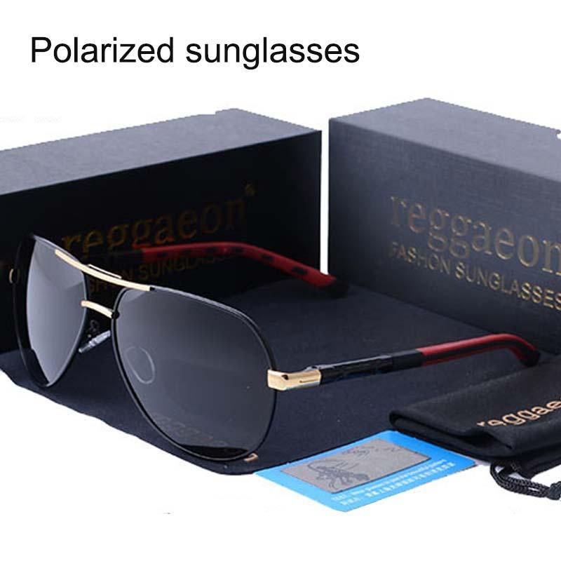Retro uomo Occhiali da sole polarizzati UV400 Specchio classici unisex di marca Polaroid Occhiali da sole Men