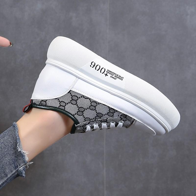 Chaussures femme en toile Casual 2020 printemps et en été de nouvelles chaussures femmes plate-forme a augmenté à semelles épaisses chaussures assorties de couleur perméable à l'air