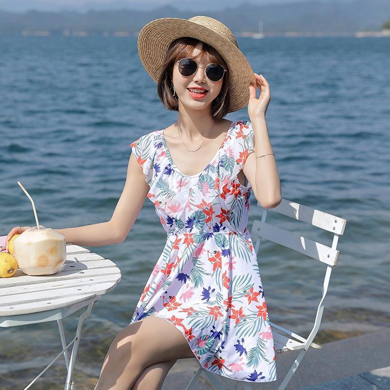 utWJG sS3jl 2.020 de mulheres coreanas estilo de divisão conservador exterior Voltar maiô feminino de praia Swimsuit slim-fit