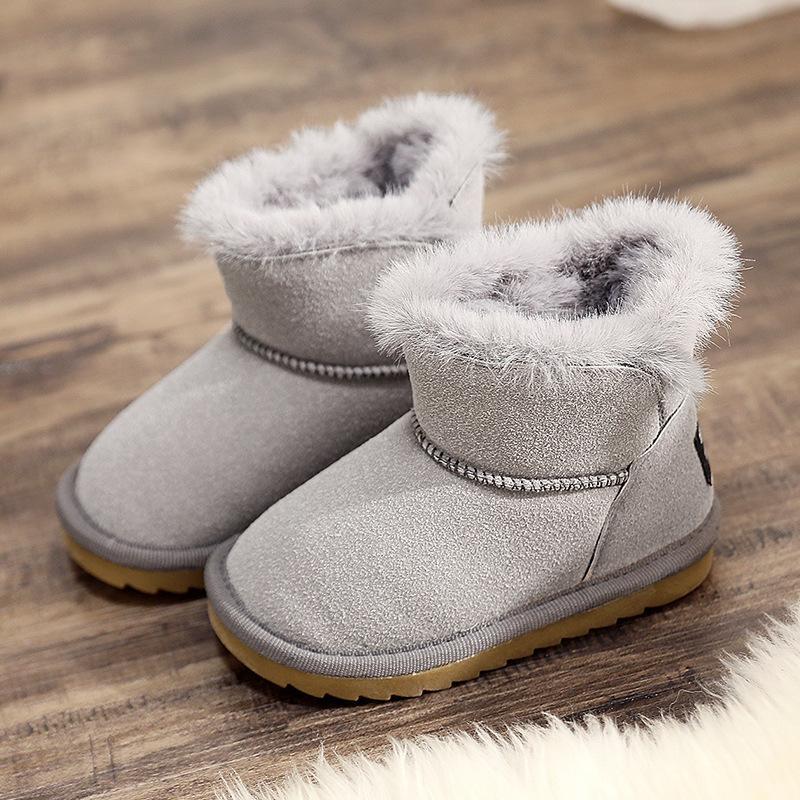 Nuovo colore rosa della peluche calda del bambino del Boots Moda Bambino Snow Boots scarpe delle scarpe delle ragazze dei ragazzi di inverno 1-10 Anni 2020 Amabili