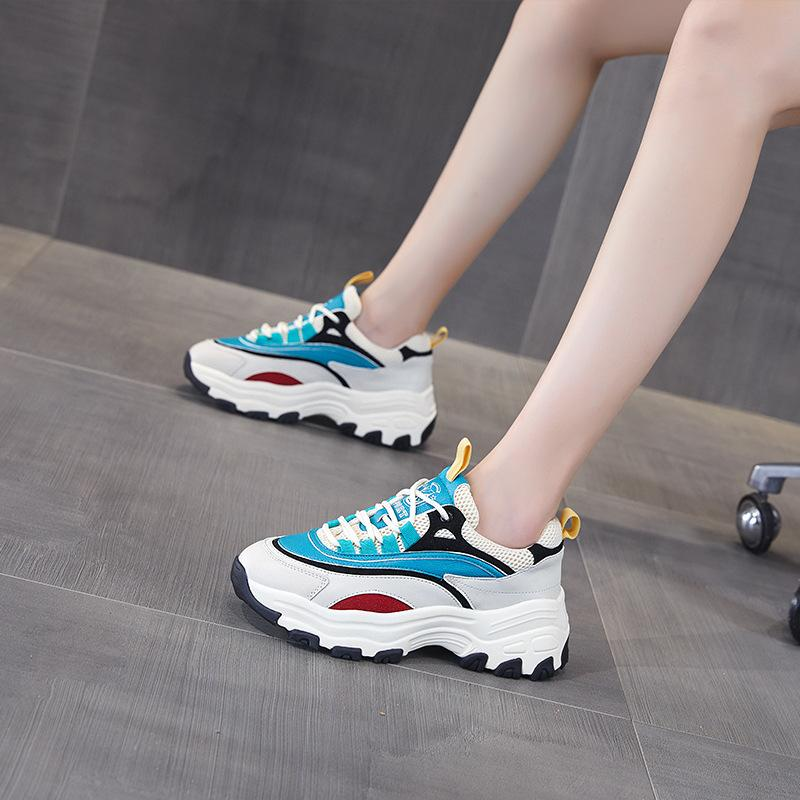 Ocio cómoda frescos de alta calidad zapatos de las zapatillas de deporte interna elevación papá-resistentes al desgaste Versátil Simplicidad zapatos para caminar de los amantes de gimnasio