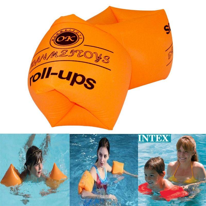 Nuoto PVC Braccio anello doppio airbag Adulti Bambini braccio del galleggiante manica Acqua Circle gonfiabile anello di nuoto del Pool Accessori Giocattoli VT1533