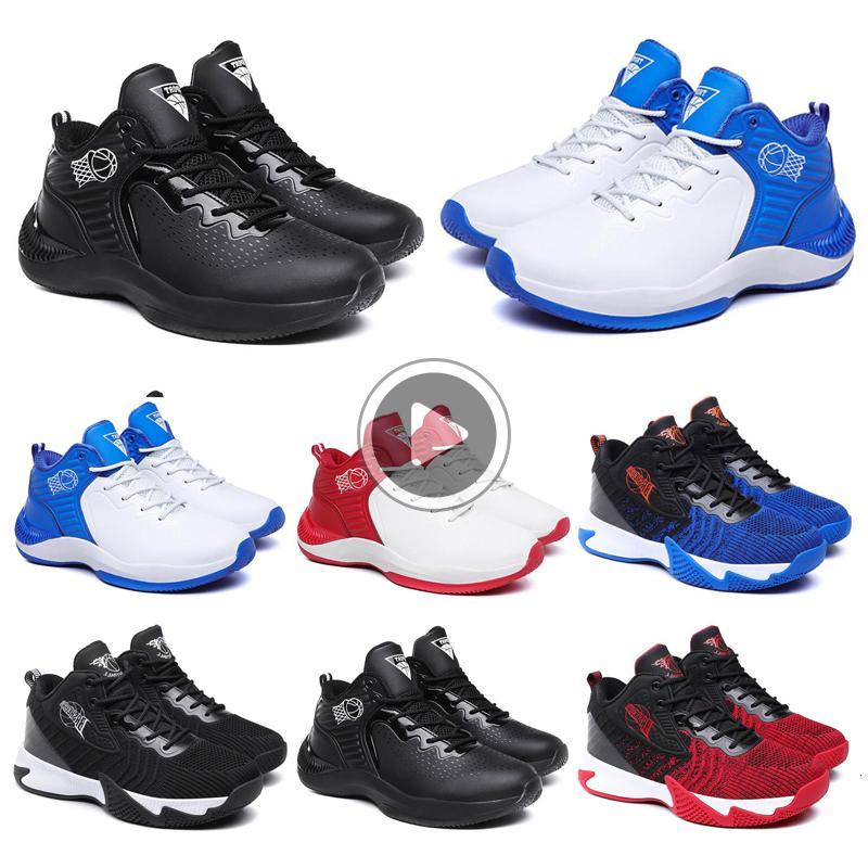 Zapatos de baloncesto de los hombres Negro Blanco Azul rojo para hombre Formadores Chaussures Moda atlético jogging al aire libre Caminar Deportes zapatillas de deporte 40-44 de estilo L 11