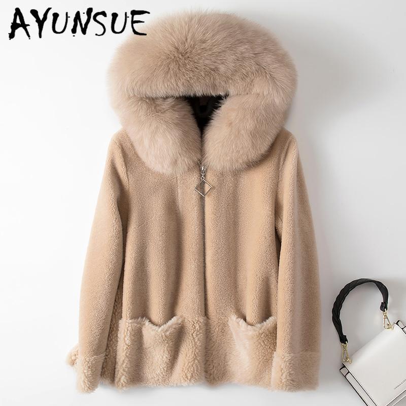 AYUNSUE hiver Shearing Manteau de fourrure de mouton Veste en laine femme coréenne épais femmes Manteaux de fourrure de vêtements élégants femmes 2020 __gVirt_NP_NN_NNPS<__ SFL1842