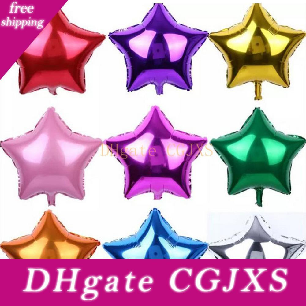 New Fashion Five -Pointed Star Aluminium Coating Balloons Beautiful Kids Toys Happy Birthday Party Wedding Gifts Decorations