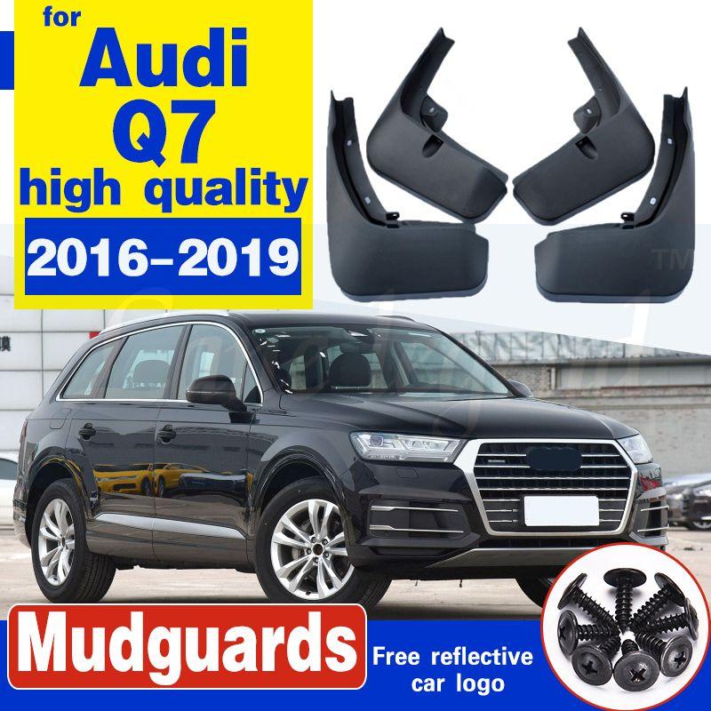 Boue voiture Rabats pour Audi Q7 2016-2019 Bavettes garde-boue BOUE Garde-boue garde-boue avant roue arrière Accessoires de haute qualité