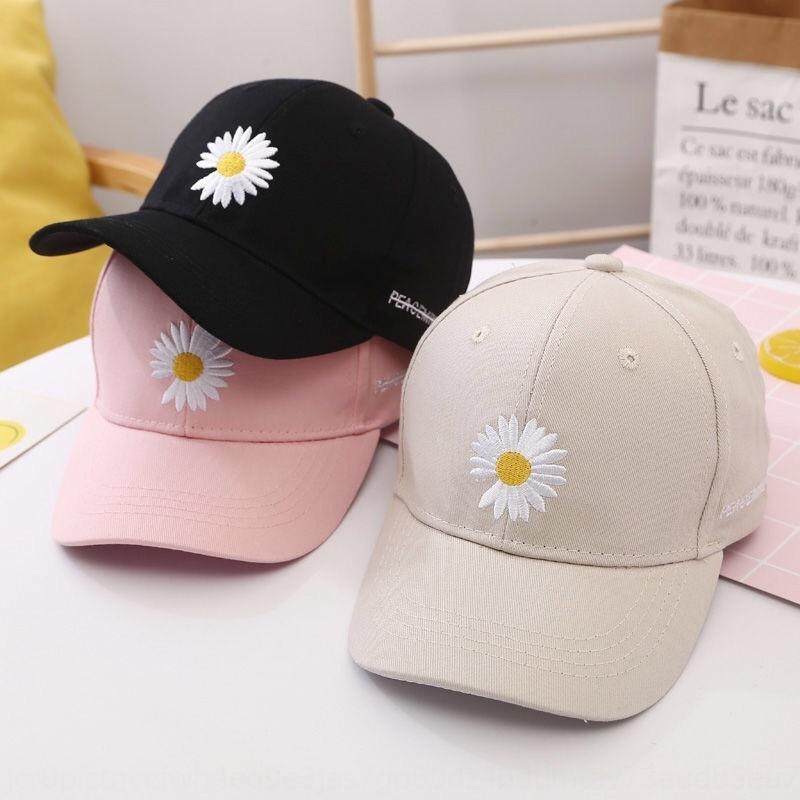 Repicado verão chapéu novo estilo coreano protecção estudante sol sol Daisy bordado Pointed Baseball cap boné de beisebol