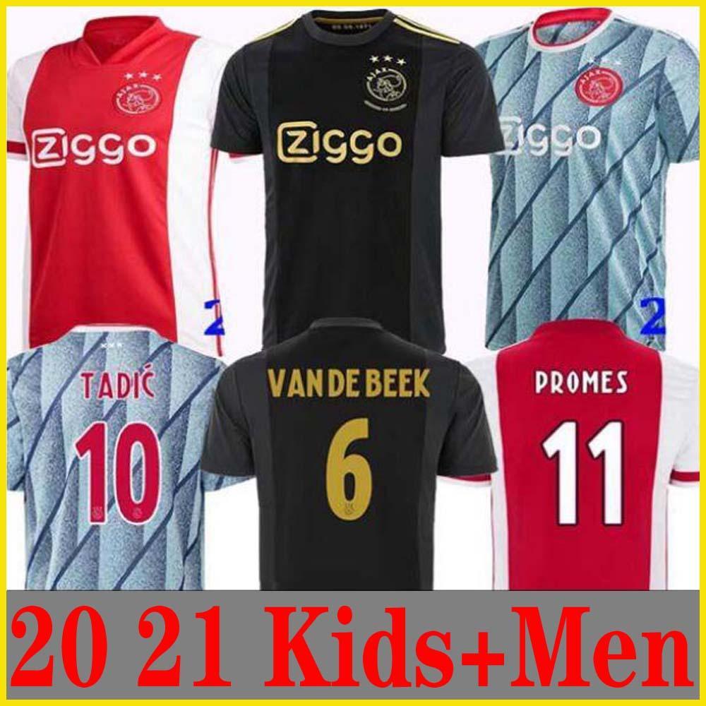 20 21 اياكس بعيدا جيرسي لكرة القدم PROMES 2020 2021 camiseta دي fútbo VAN DE BEEK تاديتش ZIYECH FOOTBALL SHIRT MEN KIDS مجموعات موحدة 50TH NERES