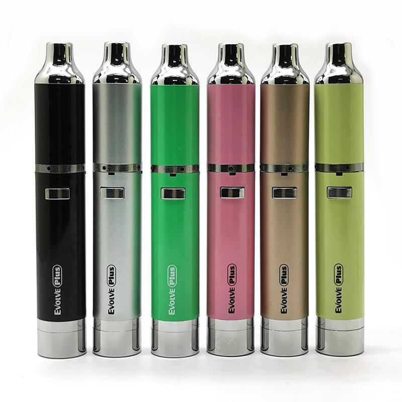 정통 Yocan Evolve 플러스 전자 담배 키트 1100mAh 기화기 건조 왁스 기화기 펜 Evolve-D 쿼츠 듀얼 코일 전자 담배