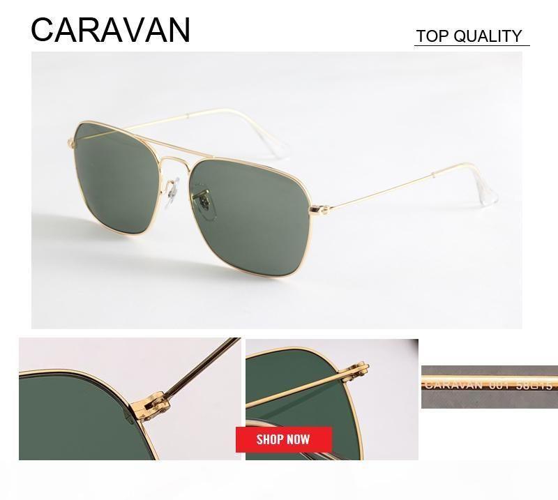 2019 fabrika toptan sıcak satış Yeni Metal Marka Womens üst Kalite karavan Tasarımcı Güneş gözlüğü UV400 rd3136 kare lens gafas