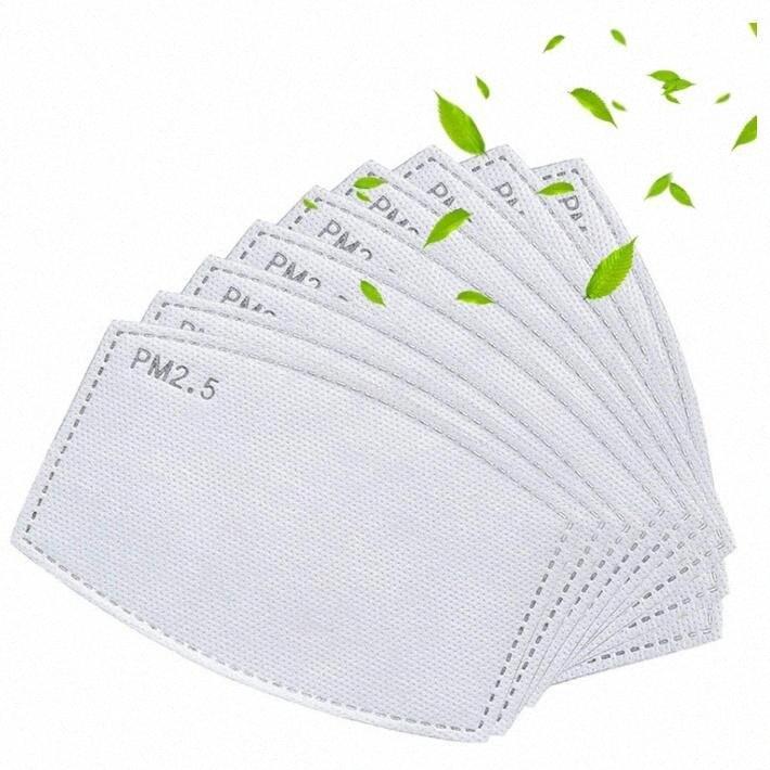 Filtro PM 2.5 para la máscara anti Haze Boca máscara de filtro reemplazable Pad 5 capas Mascarillas filtro de carbón activado Insertar CCA12289 500pcs jOEQ #