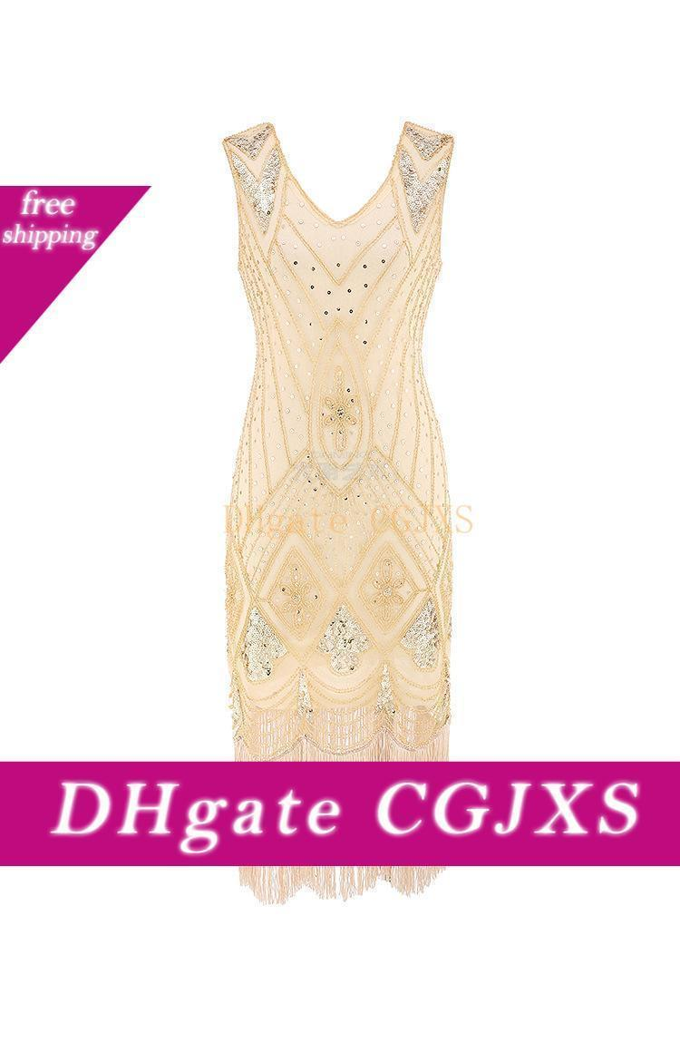 1920 S Beaded Vintage Flapper Wedding Dress The Great Gatsby Short Women Wedding Guest Dresses For Party