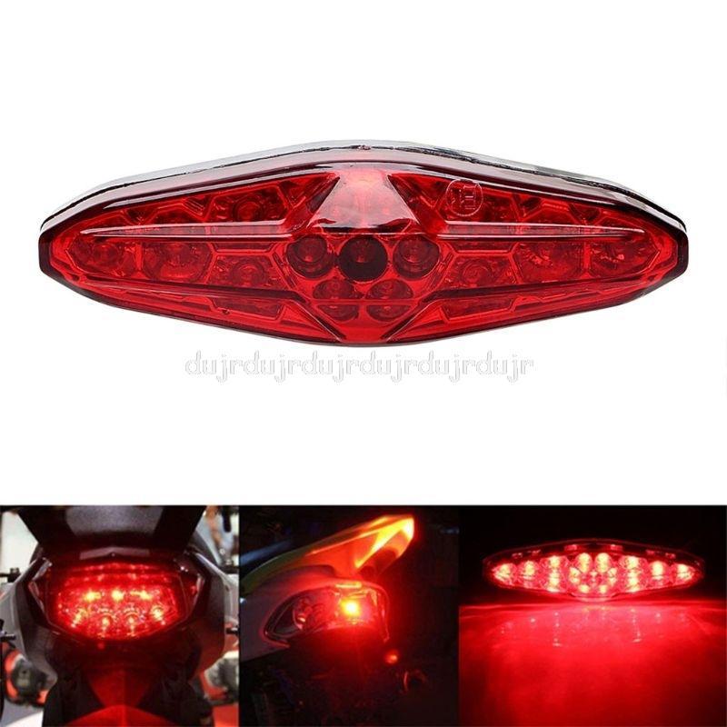 Red 15 LED Motorcycle ATV Tail Light Bike Brake Stop Rear Lamp 12V Universal Motorbbike Taillight Bulb N28 19 Dropship