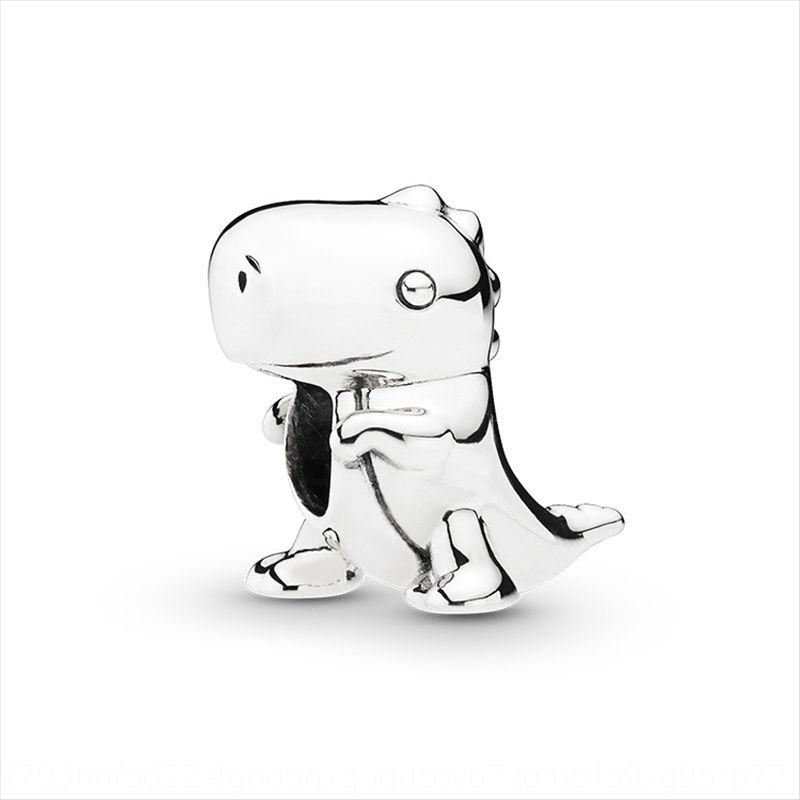 36W6r Pan Jia S925 Sterling Silber Dinosaurier Dino String Ornament Grund Armband Liebe Diy accessoriesBracelet accessoriesDIY Perlen Zubehör