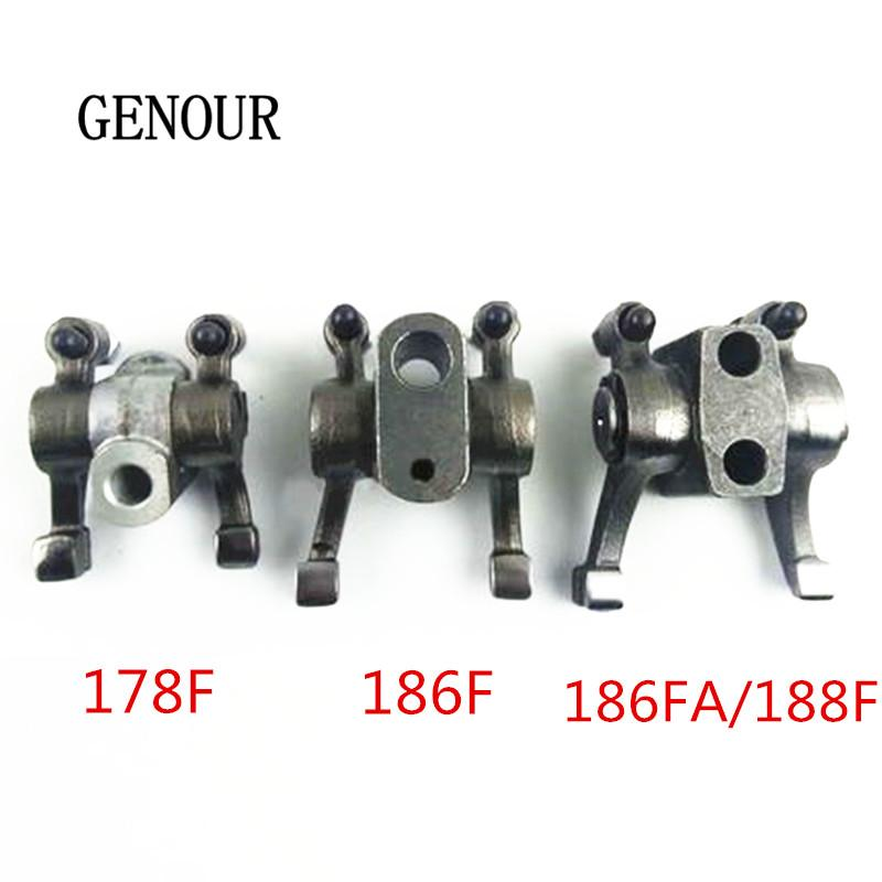 170F 178F 186FA Rocker Arm Assembly For 2KW 3KW 5KW Single-cylinder air-cooled diesel engine 4HP 6HP 9HP tiller micro tillage machine parts