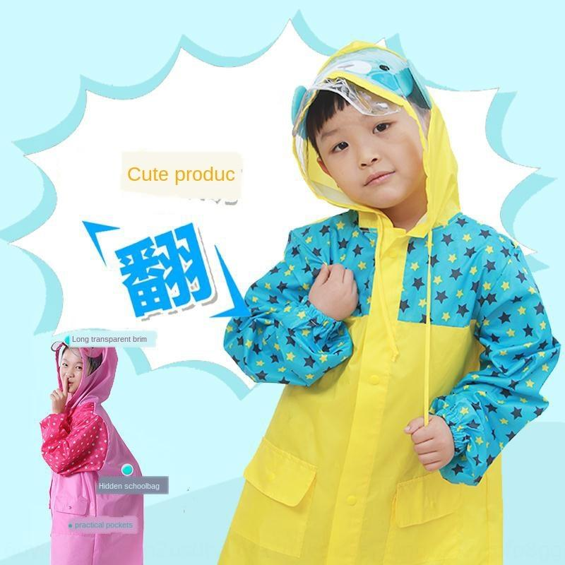 garçons X5J4a imper épaissies Cartable imperméable ceinture pour sac Cape drapent dessin animé enfants élèves des filles bébés poncho