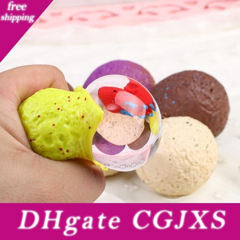 Stress Balls Squeeze Dinosaur Eggs Baby Dragon Antistress Novelty Gag Toys Fun Tricks Venting Balls Anti Stress Soft Colorful Kids Gifts