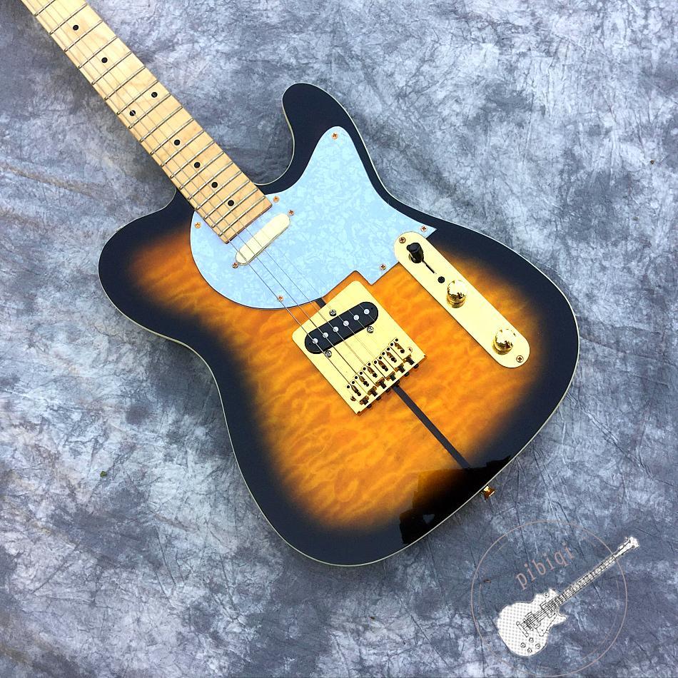 블랙 서클 노란색 개 기타 로고 모양 사용자 정의 할 수 있습니다 햇살 모든 색상 사용자 정의 텔레 일렉트릭 기타