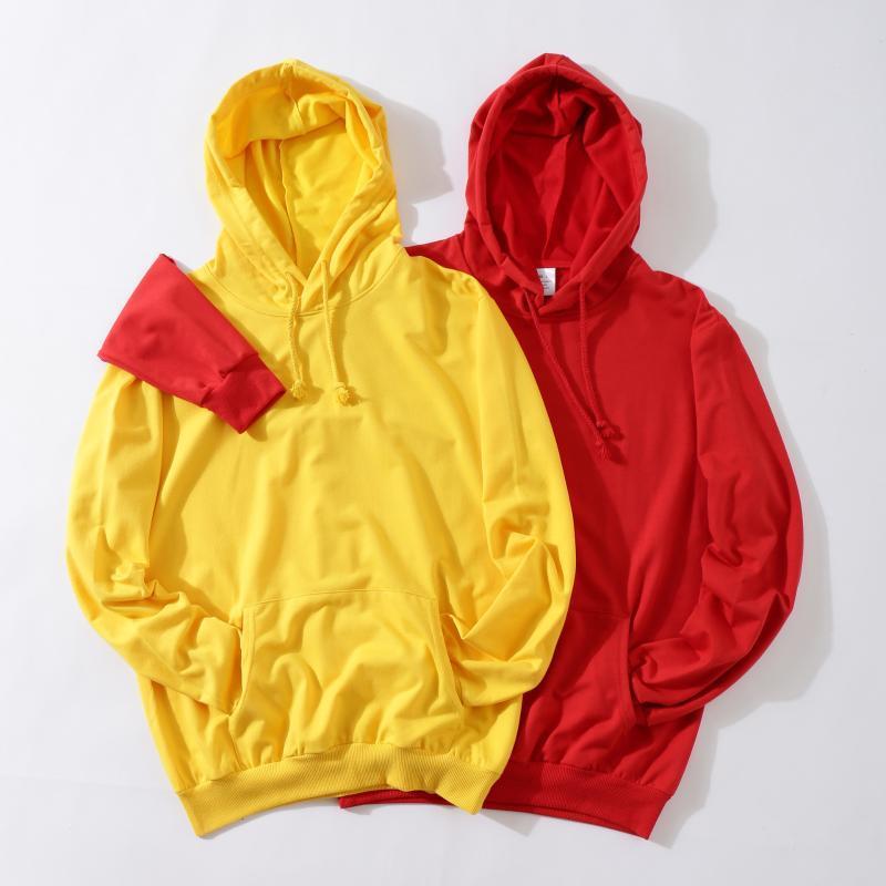 Sweats à capuche pour femmes Sweatshirts Jaune Femmes Sweat Sweat-shirt Mode Couleurs solides Sweat à capuche Mesdames 2021 Streetwear Femme Sweat à capuche Hommes Pullover