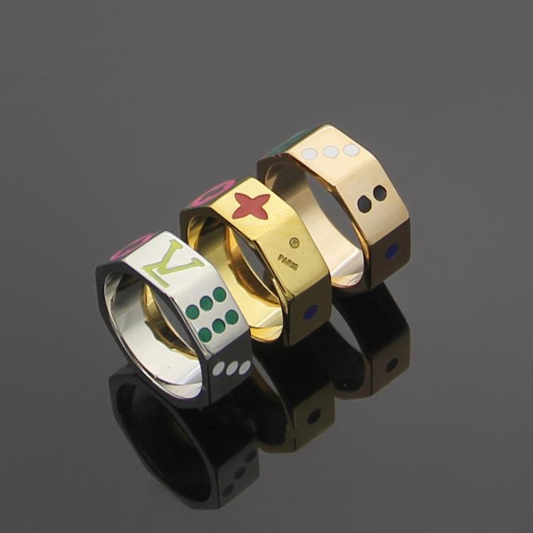 Punk-Band-Ring mit Email- und Blumen-Design für Frauen und Mannoctagon Ring Freies Verschiffen PS4592