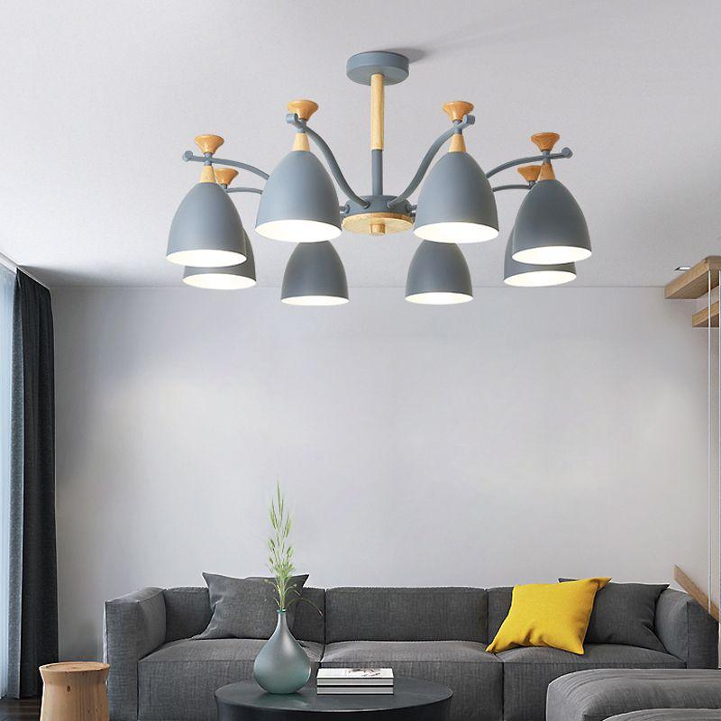 Nordic Wohnzimmer einfache moderne Atmosphäre zu Hause Esszimmer Schlafzimmer Paket Macaron Artraum Kronleuchter leben