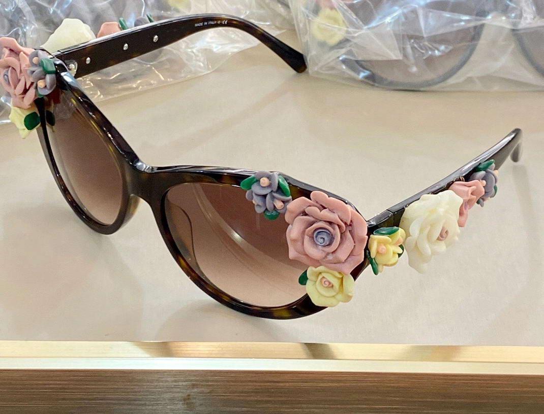 Blumen Katzenaugen-Sonnenbrille Havana Brown Gradient occhiali da sole Firmati Frauen die Partei-Sonnenbrille mit Kasten